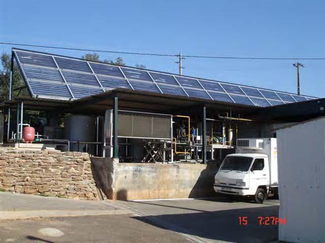 Защита от накипи панелей солнечных водонагревателей мясокомбината